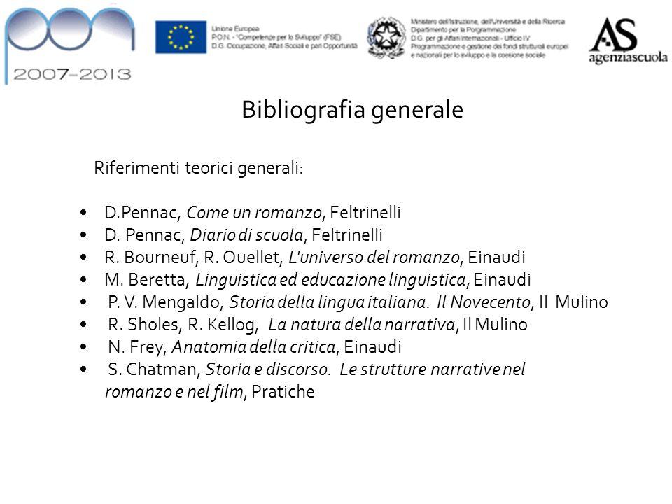 Riferimenti teorici generali: D.Pennac, Come un romanzo, Feltrinelli D.