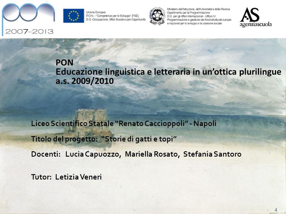 4 PON Educazione linguistica e letteraria in unottica plurilingue a.s.