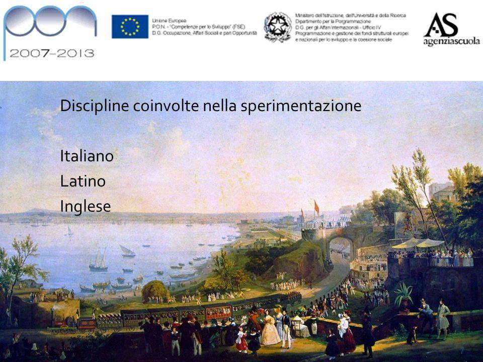 Materie coinvolte Discipline coinvolte nella sperimentazione Italiano Latino Inglese 7