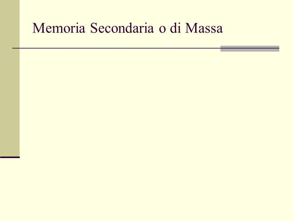 Memoria Secondaria o di Massa