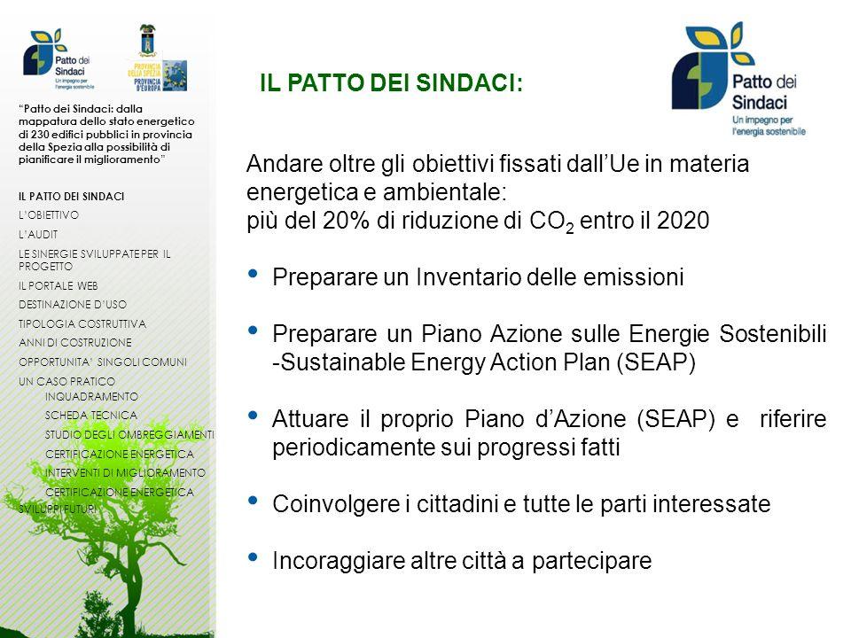 IL PATTO DEI SINDACI: Patto dei Sindaci: dalla mappatura dello stato energetico di 230 edifici pubblici in provincia della Spezia alla possibilità di