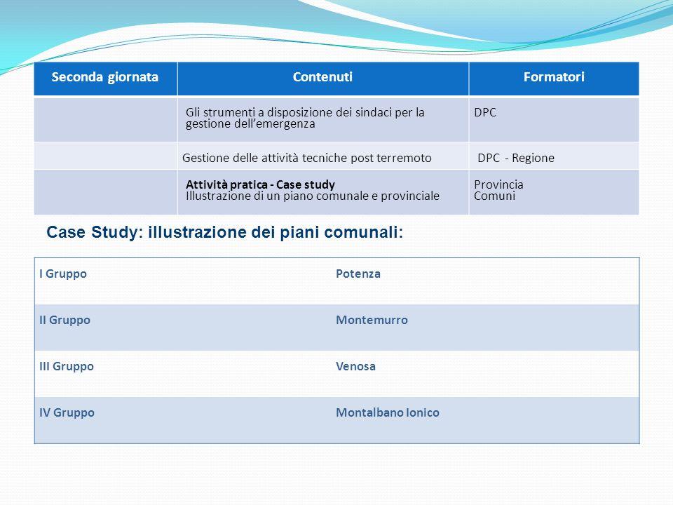 Seconda giornataContenuti Formatori Gli strumenti a disposizione dei sindaci per la gestione dellemergenza DPC Gestione delle attività tecniche post t