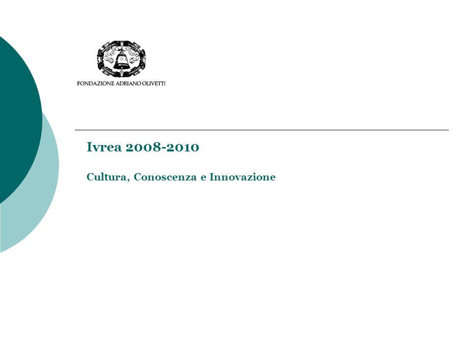 Ivrea 2008-2010 Cultura, Conoscenza e Innovazione