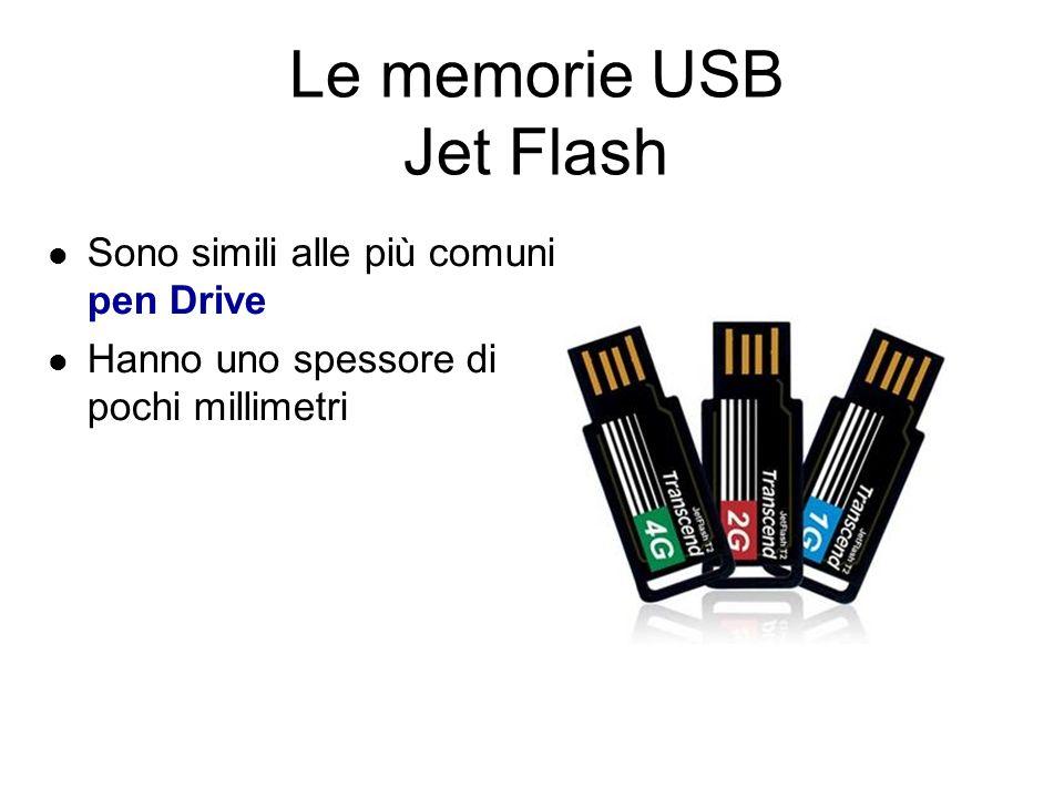 Le memorie USB Solid state Disk Memorie USB dalle altissime capacità di memoria (fino a 200GB) Utilizzano la tecnologia solid state per creare delle memorie dalle dimensioni ridottisime