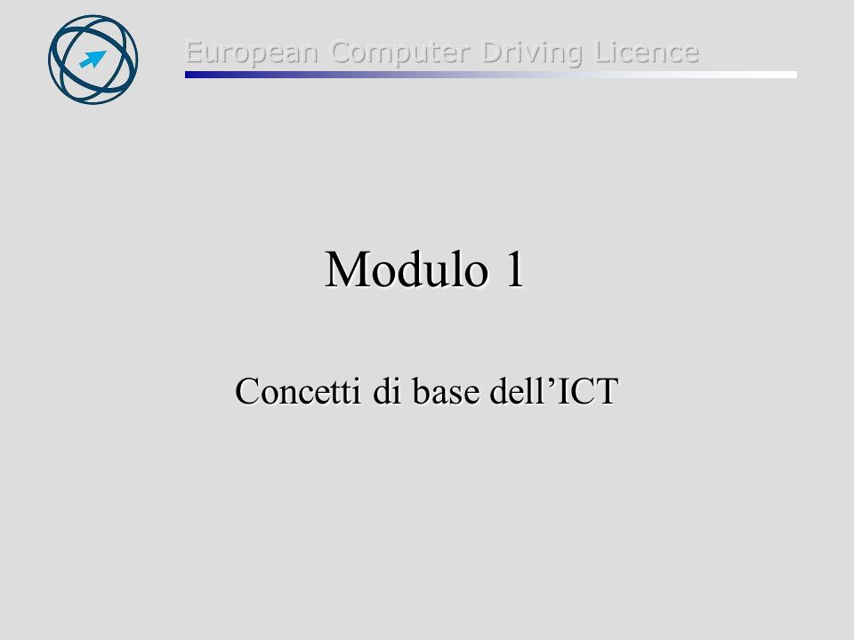 2 ICT = Information & Communications Technology (tecnologia di convergenza di informatica e telematica)