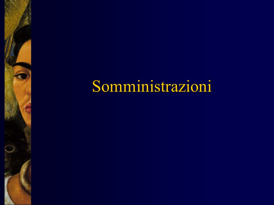Somministrazioni