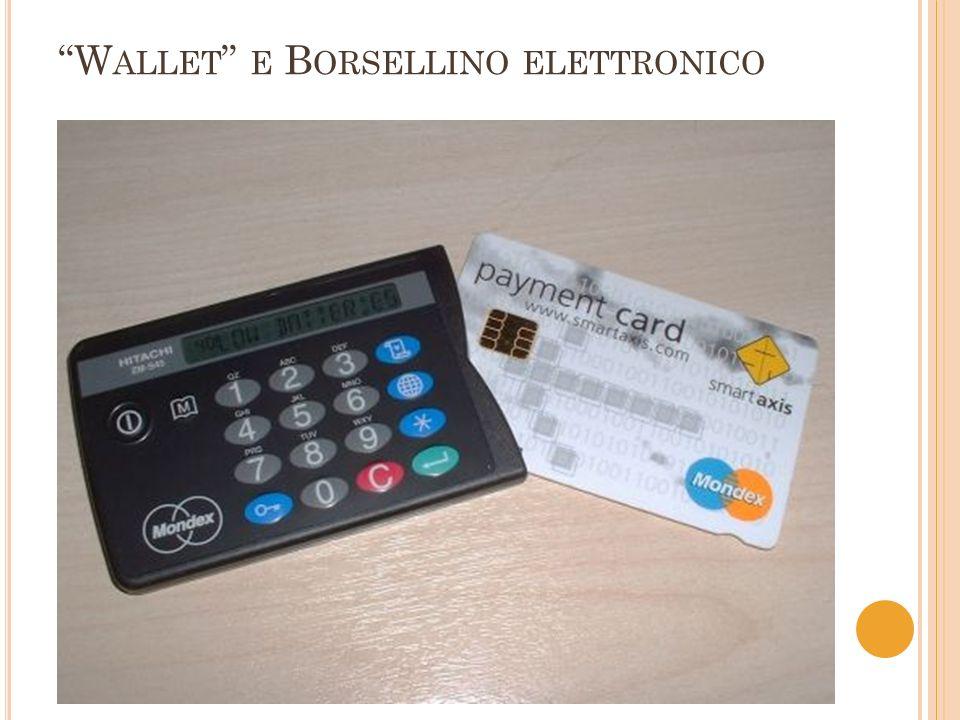 I L BORSELLINO ELETTRONICO Collegata ad un conto bancario Ogni carta ha un numero di 16 cifre che collega il conto alla carta Microprocessore Hitachi – chip con 8 KB mem.