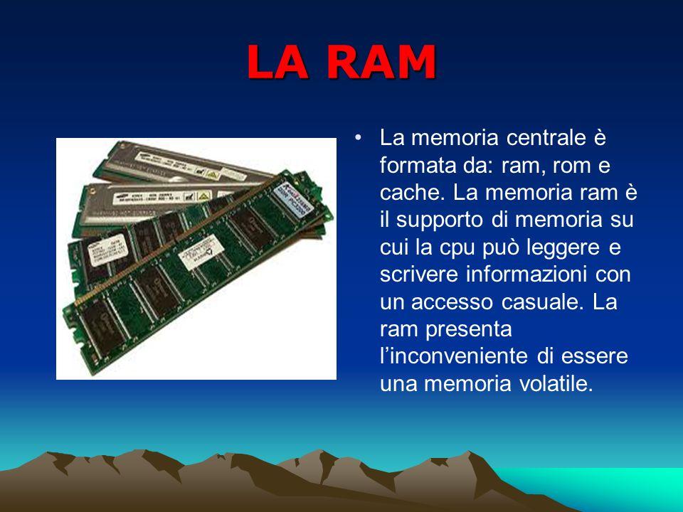 LA ROM Per svolgere il suo compito, la cpu ha bisogno anche di una parte di memoria non volatile, contenente una serie di informazioni fondamentali per il funzionamento del computer.