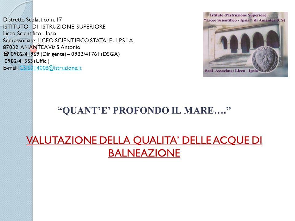 Distretto Scolastico n. 17 ISTITUTO DI ISTRUZIONE SUPERIORE Liceo Scientifico - Ipsia Sedi associate: LICEO SCIENTIFICO STATALE - I.P.S.I.A. 87032 AMA