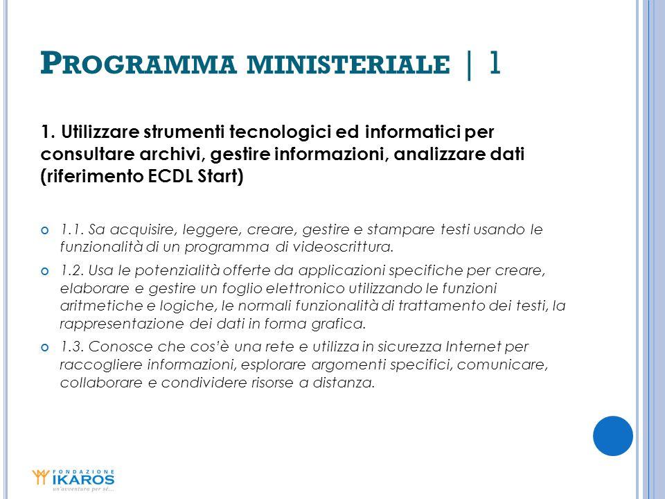 P ROGRAMMA MINISTERIALE | 2 2.