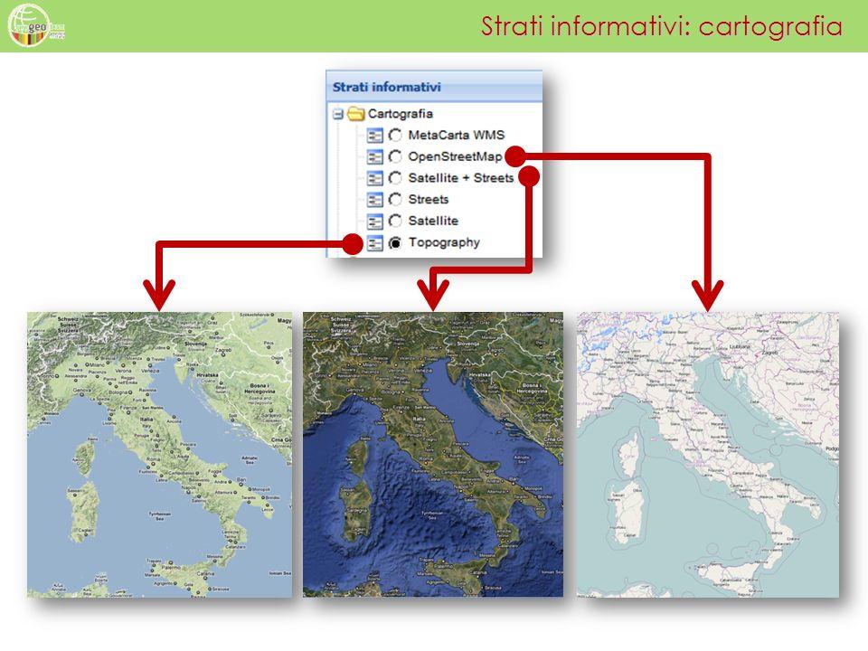 Strati informativi: cartografia
