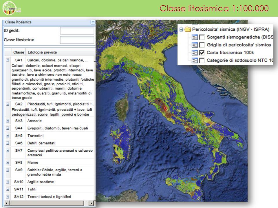 Classe litosismica 1:100.000