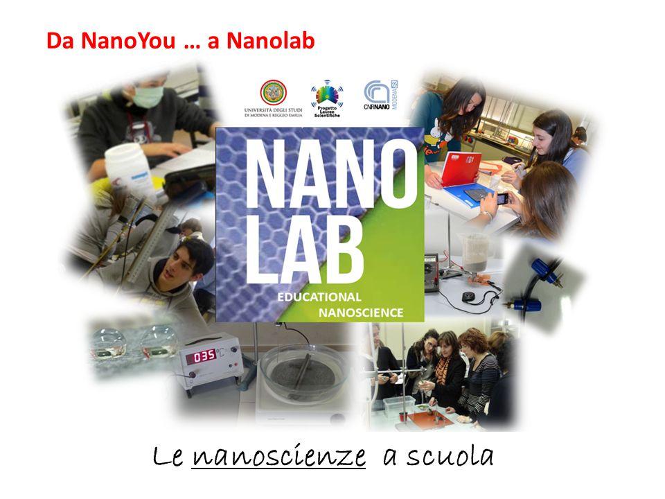 Le nanoscienze a scuola Da NanoYou … a Nanolab