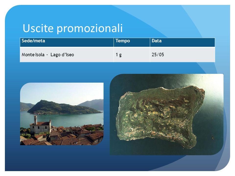 Uscite promozionali Sede/metaTempoData Monte Isola - Lago dIseo1 g25/05