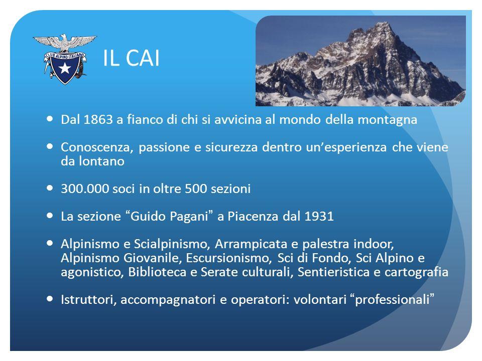 IL CAI Dal 1863 a fianco di chi si avvicina al mondo della montagna Conoscenza, passione e sicurezza dentro un esperienza che viene da lontano 300.000