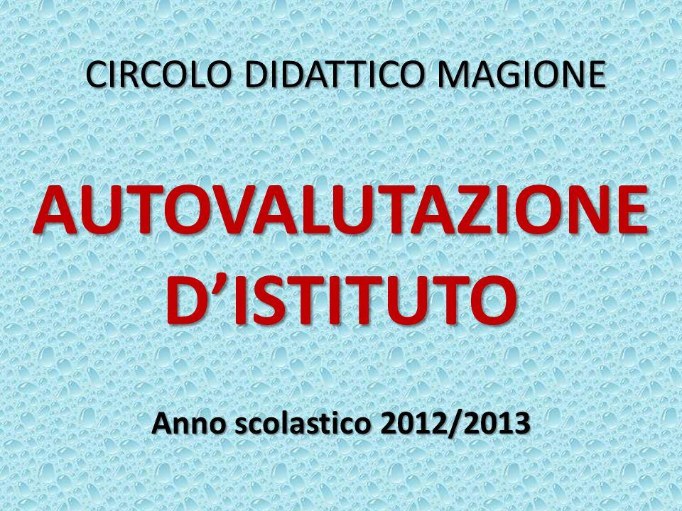 CIRCOLO DIDATTICO MAGIONE AUTOVALUTAZIONE DISTITUTO Anno scolastico 2012/2013