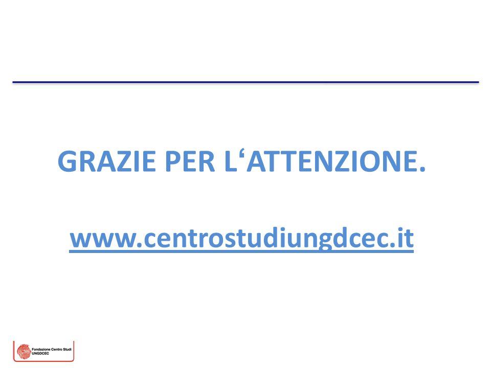 GRAZIE PER LATTENZIONE. www.centrostudiungdcec.it