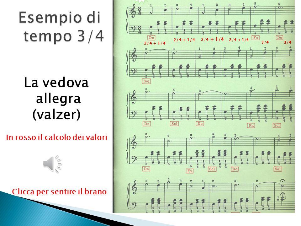 Oh Susanna ¼ + ¼ 2/4 ¼ + ¼ In rosso il calcolo dei valori Clicca per sentire il brano