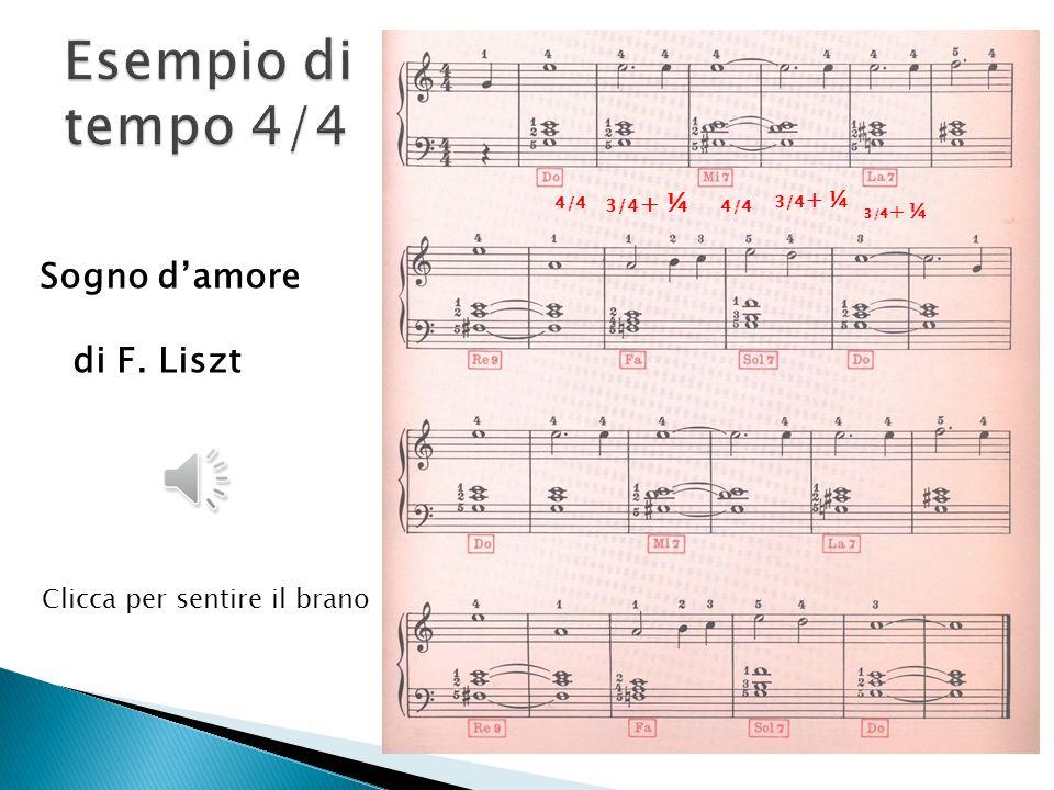 La vedova allegra (valzer) 2/4 + 1/4 3/4 In rosso il calcolo dei valori Clicca per sentire il brano