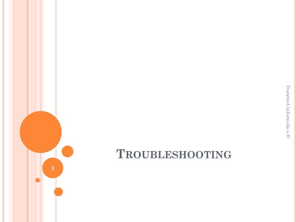 T ROUBLESHOOTING Burstnet informatica © 1