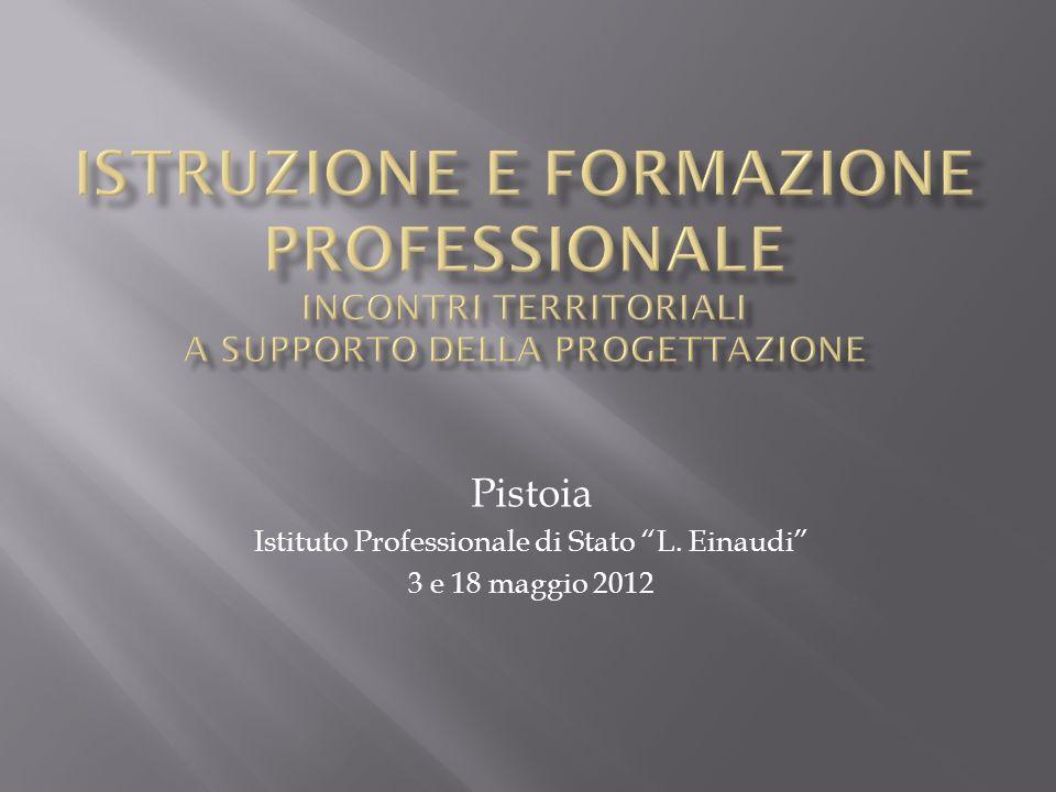Pistoia Istituto Professionale di Stato L. Einaudi 3 e 18 maggio 2012