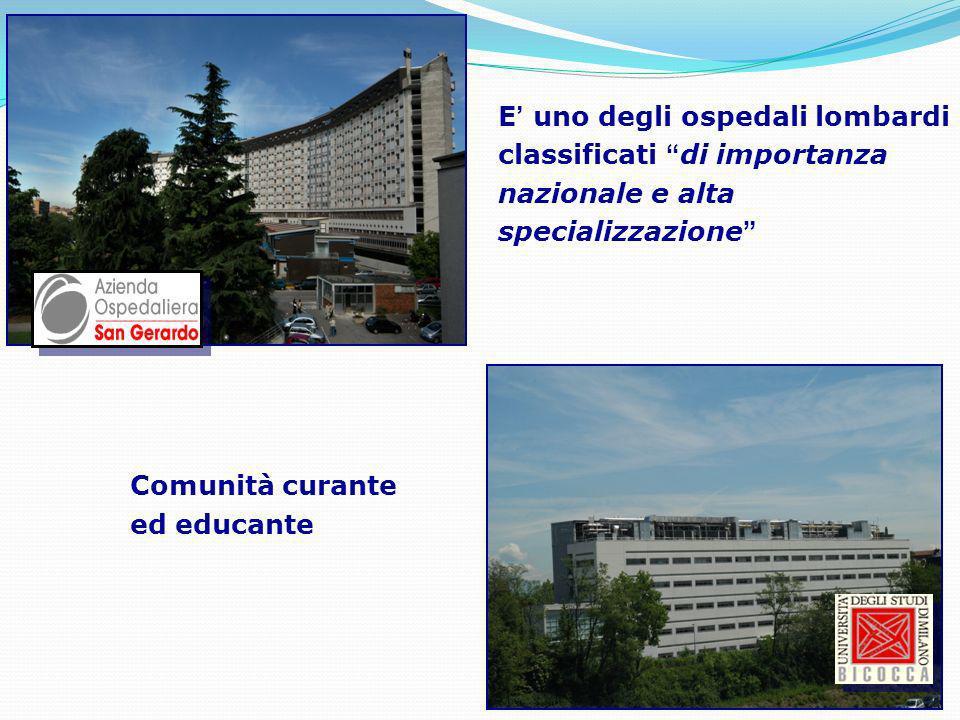 E uno degli ospedali lombardi classificati di importanza nazionale e alta specializzazione E uno degli ospedali lombardi classificati di importanza na