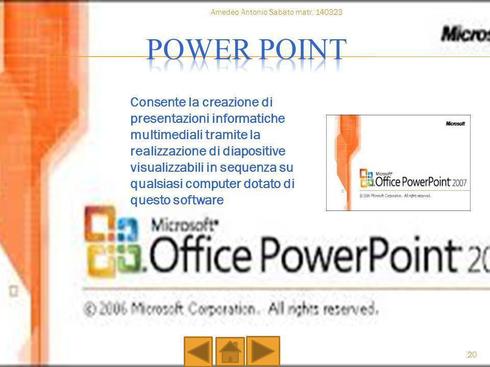 Consente la creazione di presentazioni informatiche multimediali tramite la realizzazione di diapositive visualizzabili in sequenza su qualsiasi compu