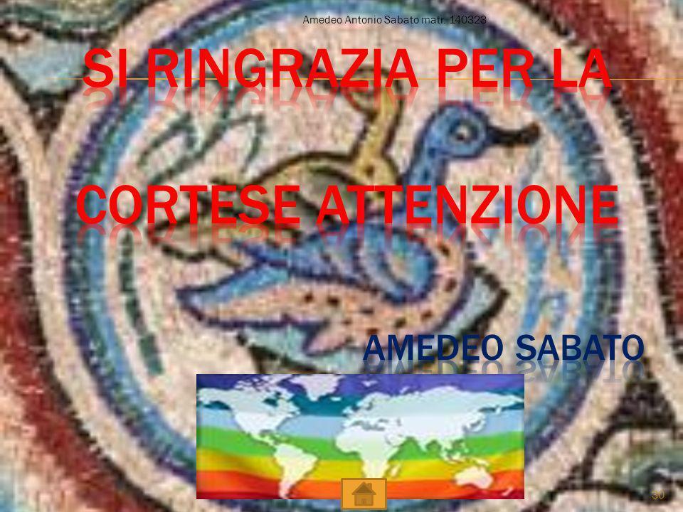 Amedeo Antonio Sabato matr. 140323 30