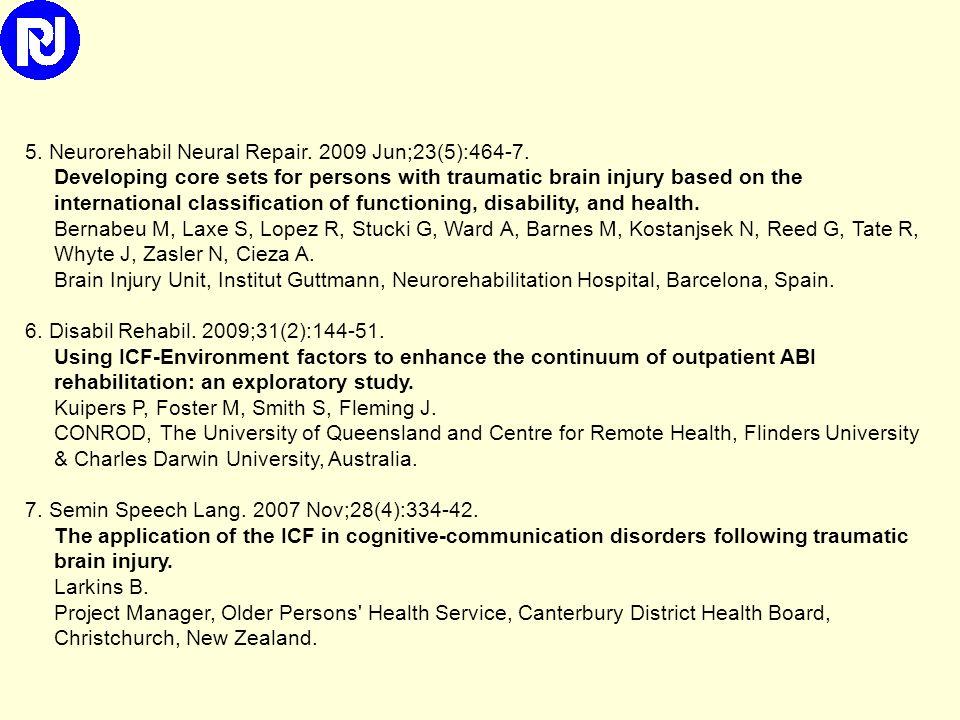 1. Disabil Rehabil. 2010 Feb 1. Disability, physical health and mental health 1 year after traumatic brain injury. Andelic N, Sigurdardottir S, Schank