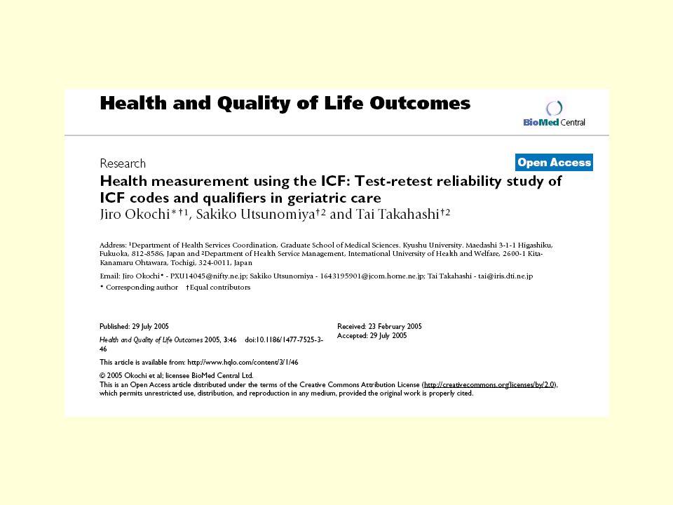 Mobilità è la categoria ICF maggiormente rappresentata, con il 35% di tutti i linkages. Daltra parte lavoro, attività del tempo libero e relazioni sta