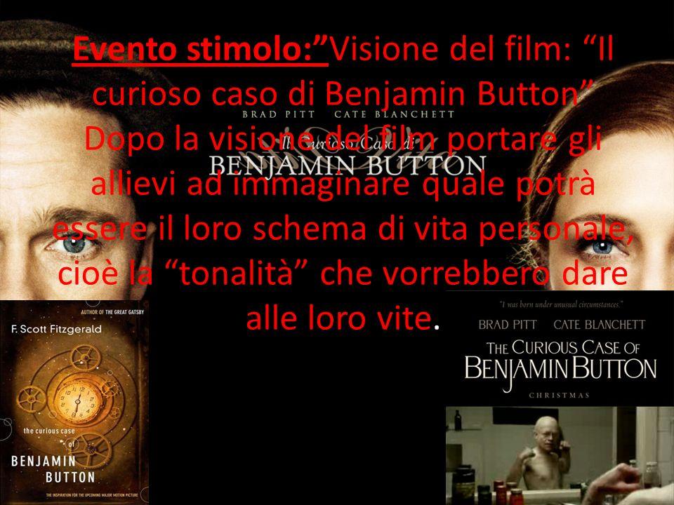 Evento stimolo:Visione del film: Il curioso caso di Benjamin Button Dopo la visione del film portare gli allievi ad immaginare quale potrà essere il l