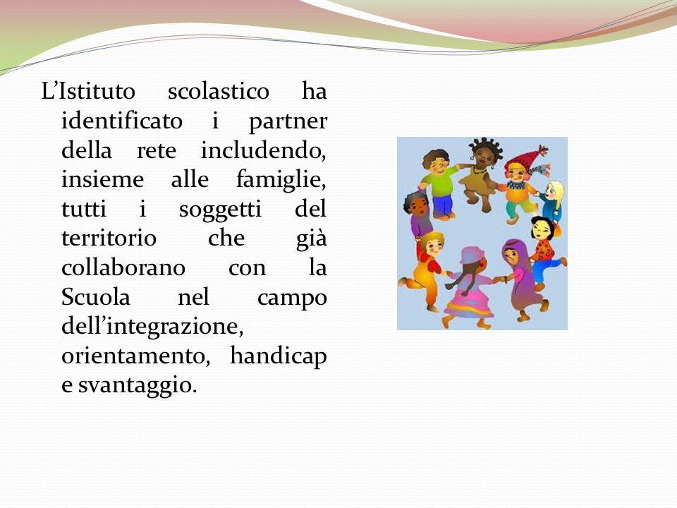 LIstituto scolastico ha identificato i partner della rete includendo, insieme alle famiglie, tutti i soggetti del territorio che già collaborano con l
