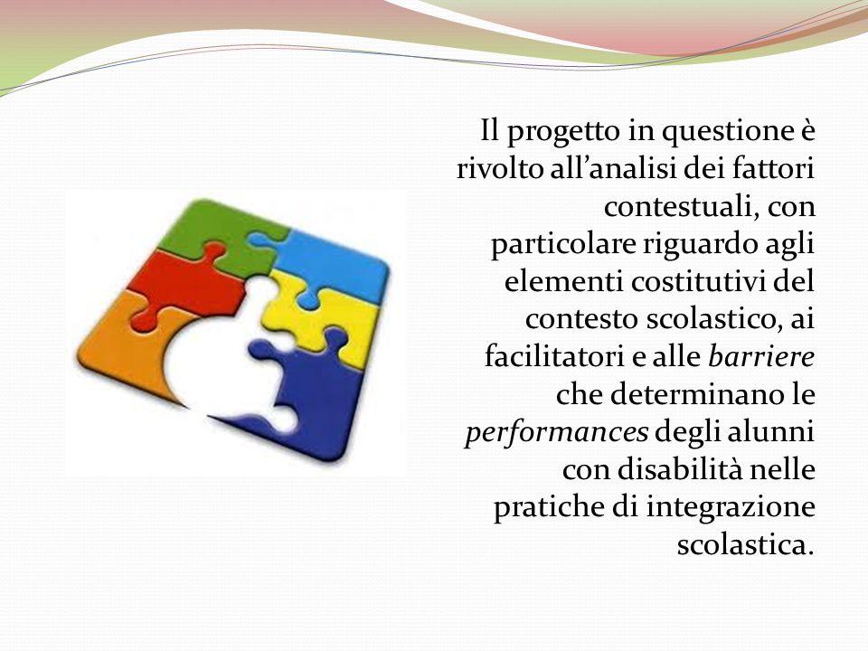 Il progetto in questione è rivolto allanalisi dei fattori contestuali, con particolare riguardo agli elementi costitutivi del contesto scolastico, ai