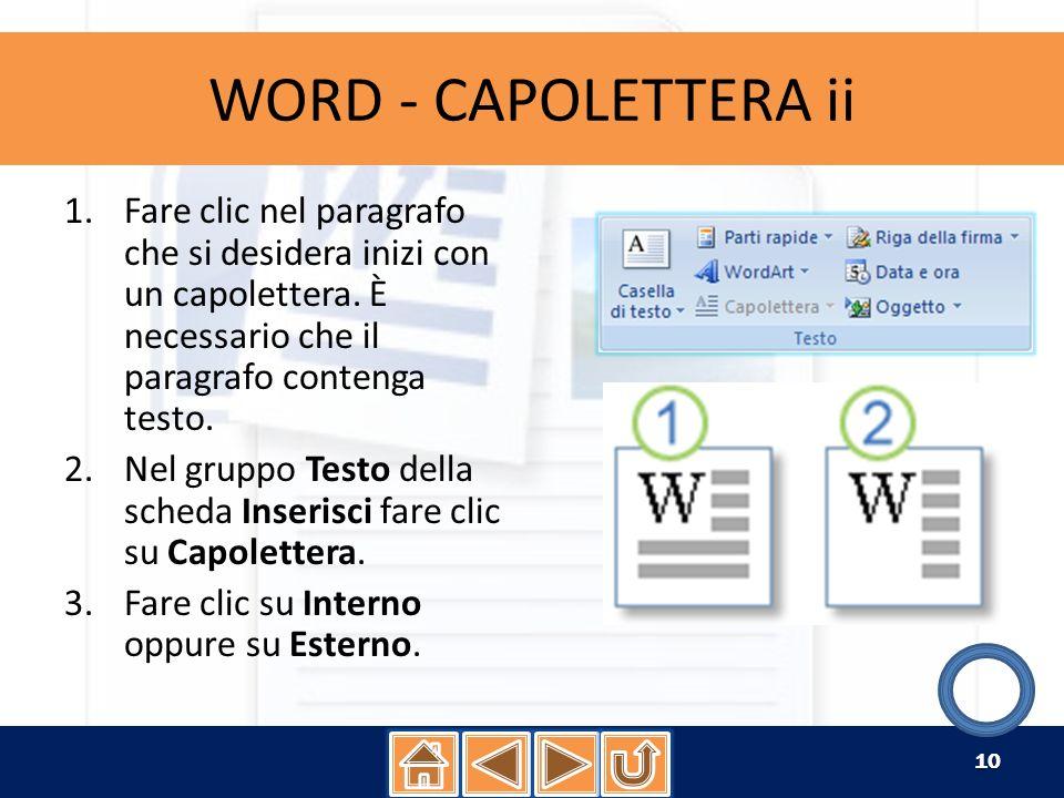 WORD - INTESTAZIONE i Le intestazioni e i piè di pagina sono aree nei margini superiore, inferiore e laterale di ogni pagina di un documento.