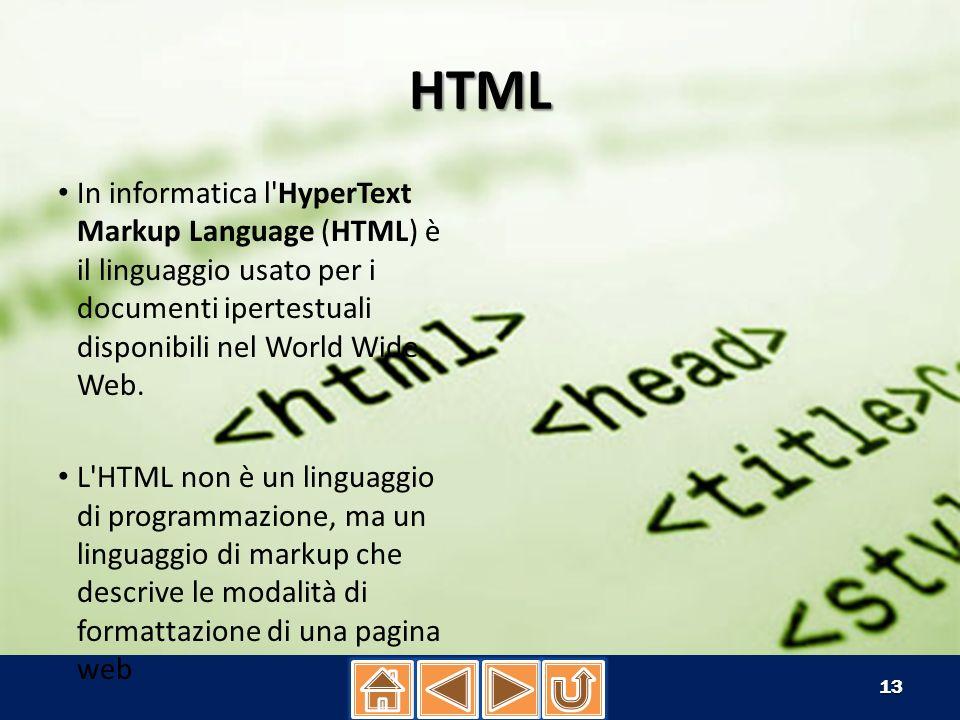 HTML - ELENCHI puntati/numerati i In HTML ci sono molti tipi di elenchi puntati e numerati in diverse maniere, i Tag per ottenere questo sono: ......