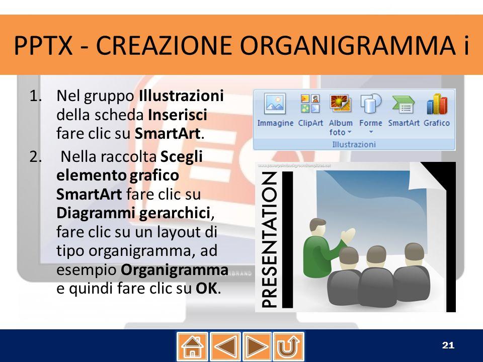 1.Fare clic sulla forma nell organigramma desiderato per applicare un layout sporgente 1.Fare clic sulla forma nell organigramma desiderato per applicare un layout sporgente.