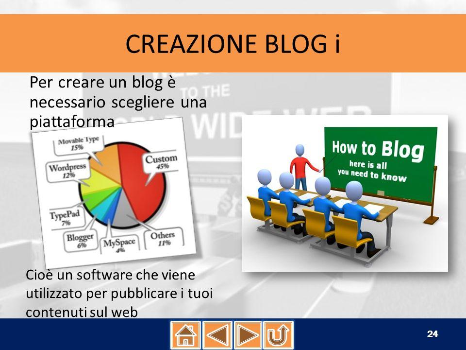 CREAZIONE BLOG ii Sicuramente il modo più semplice per iniziare è una piattaforma blogging in hosting.