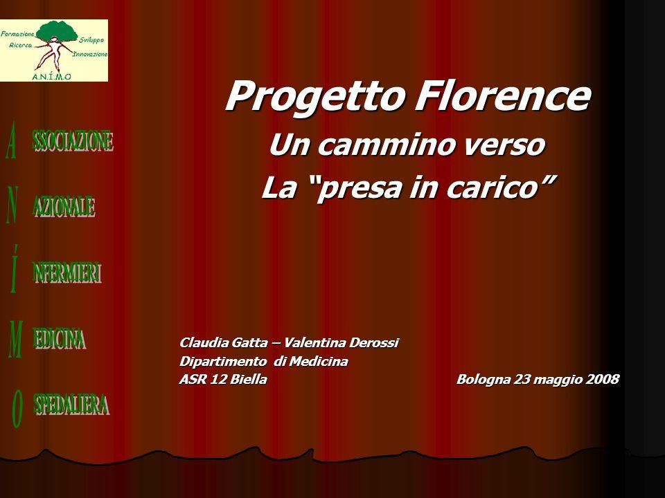 Progetto Florence Un cammino verso La presa in carico Claudia Gatta – Valentina Derossi Dipartimento di Medicina ASR 12 Biella Bologna 23 maggio 2008