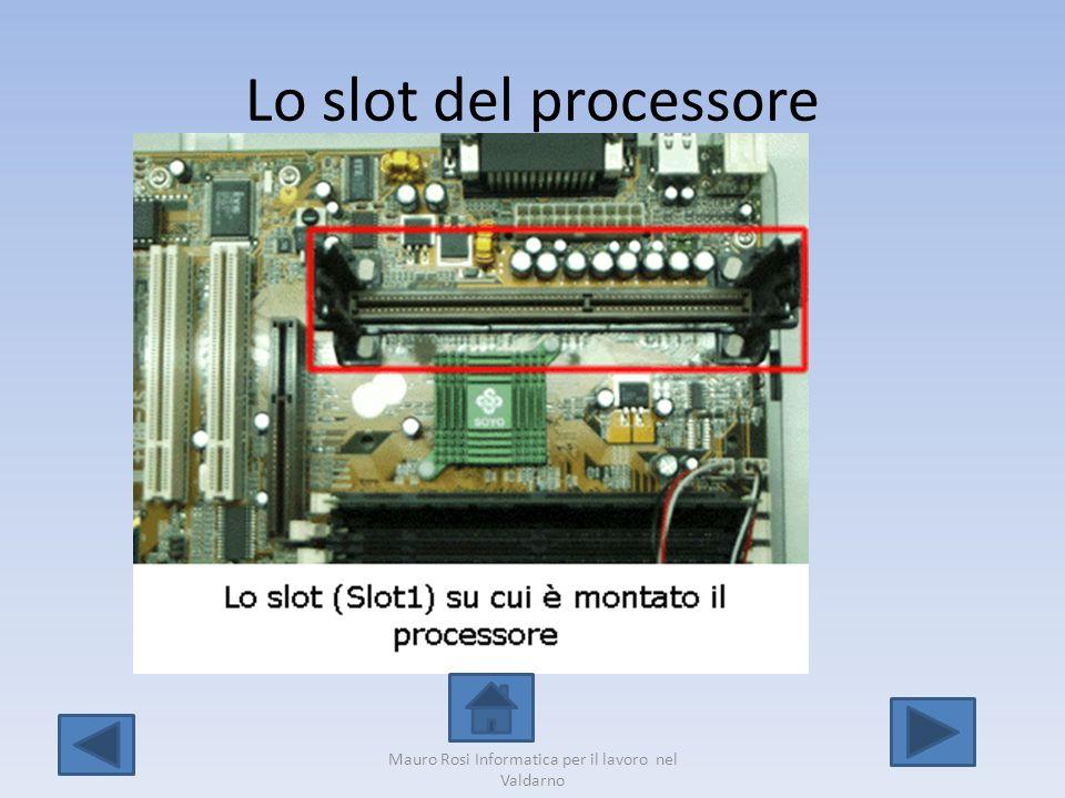 Lo slot del processore Mauro Rosi Informatica per il lavoro nel Valdarno