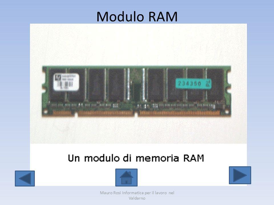 Modulo RAM Mauro Rosi Informatica per il lavoro nel Valdarno
