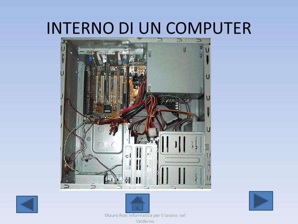 INTERNO DI UN COMPUTER Mauro Rosi Informatica per il lavoro nel Valdarno