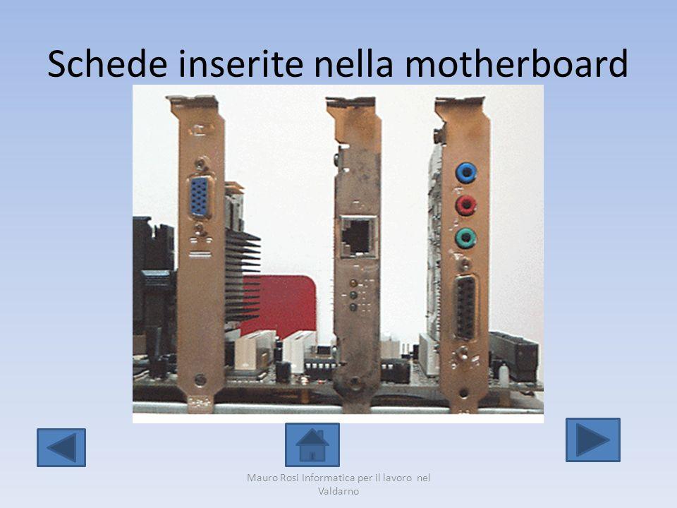 Schede inserite nella motherboard Mauro Rosi Informatica per il lavoro nel Valdarno