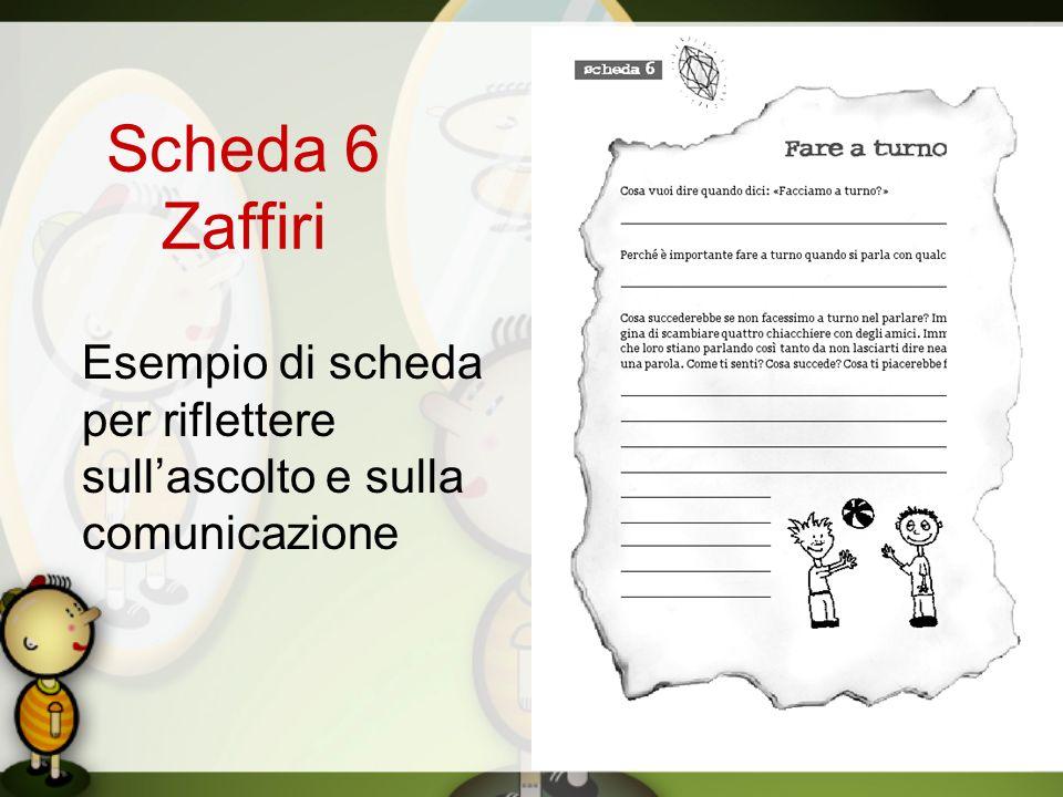 Scheda 6 Zaffiri Esempio di scheda per riflettere sullascolto e sulla comunicazione