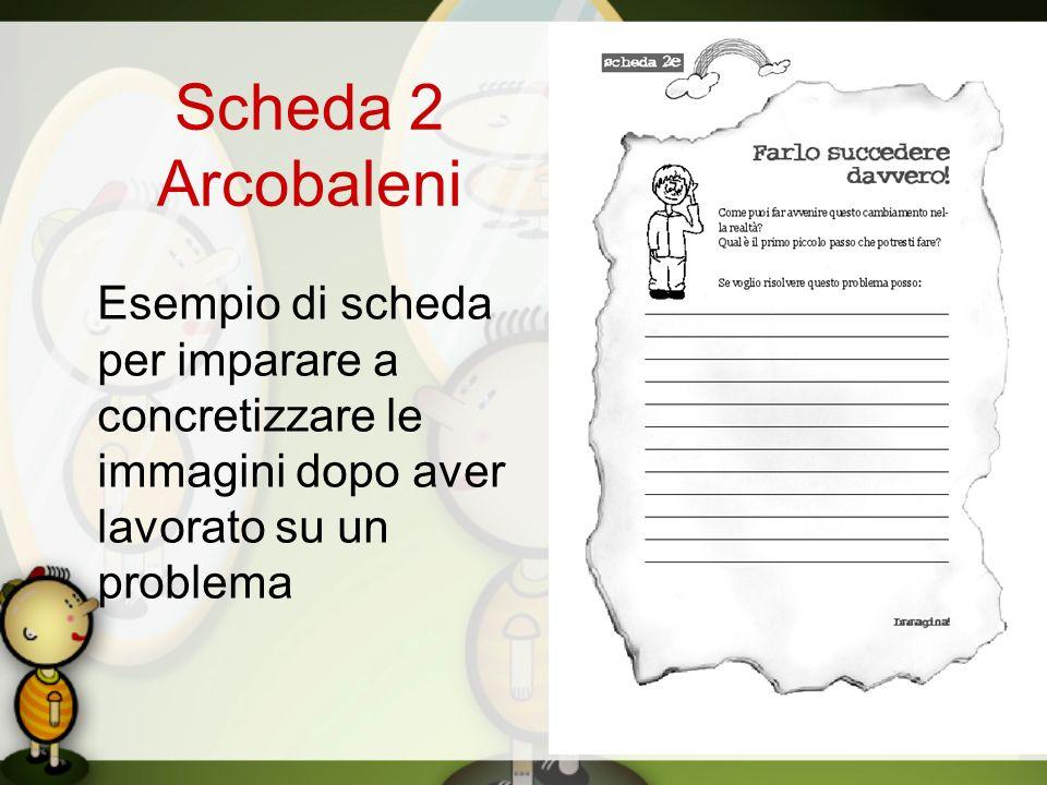 Scheda 2 Arcobaleni Esempio di scheda per imparare a concretizzare le immagini dopo aver lavorato su un problema