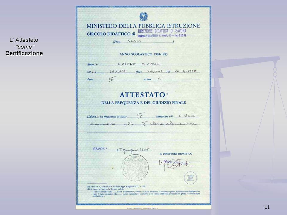 11 L Attestato come Certificazione