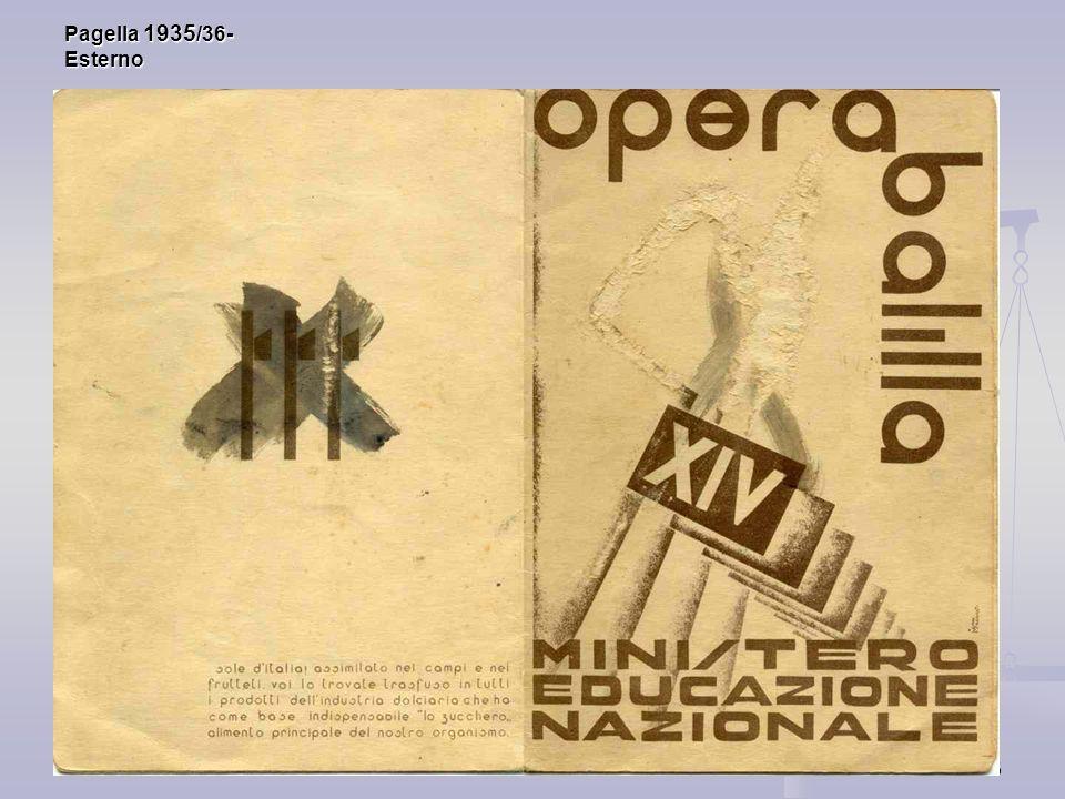 6 Pagella 1935 /36- Esterno