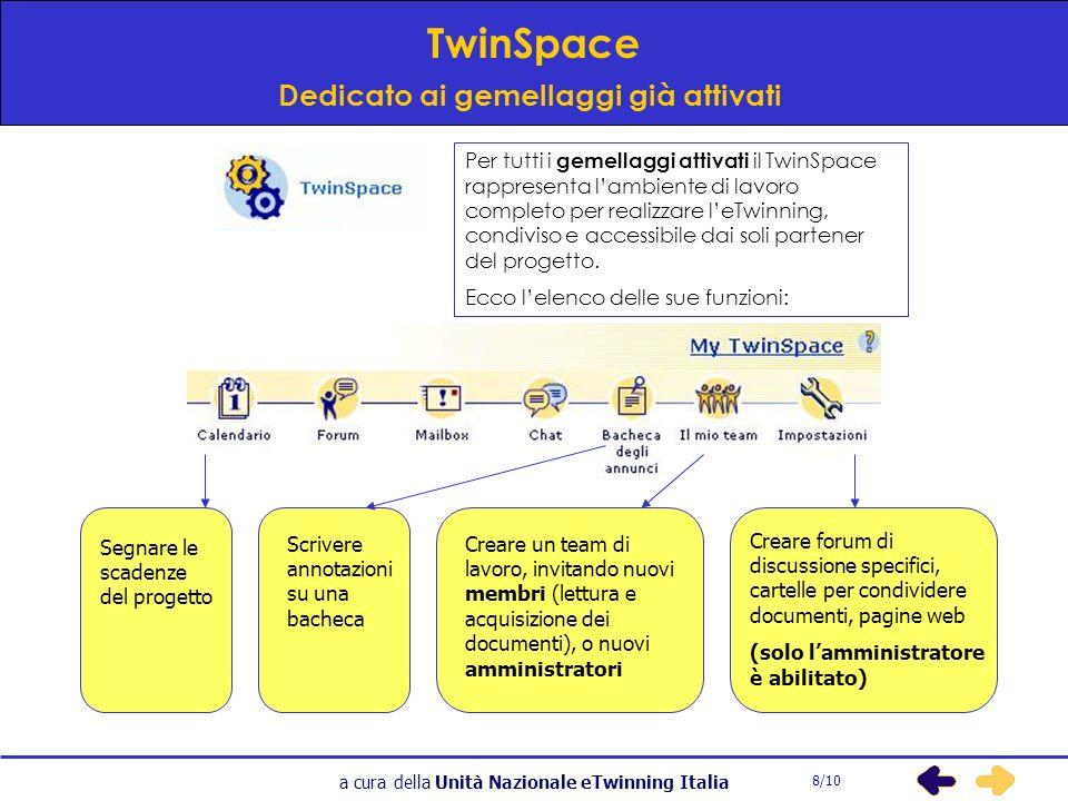a cura della Unità Nazionale eTwinning Italia Ricordate che… Per ogni gemellaggio registrato deve essere aggiornata costantemente la Scheda delle Attività, soprattutto quando utilizzate strumenti esterni al Desktop eTwinning.