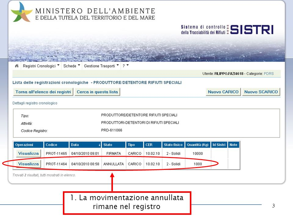 www.aib.bs.it 3 1. La movimentazione annullata rimane nel registro