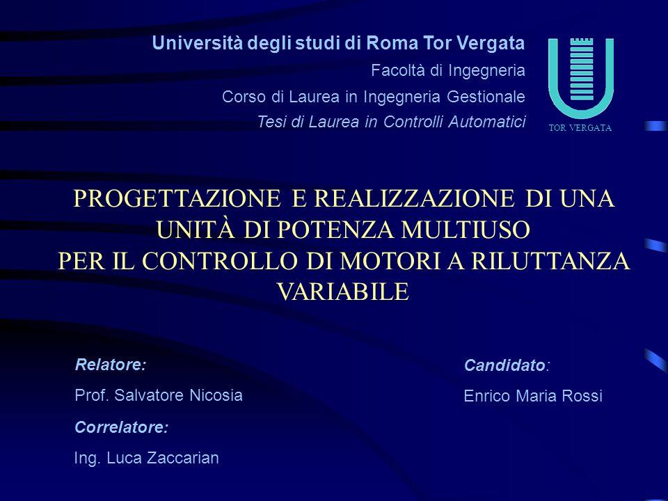 Università degli studi di Roma Tor Vergata Facoltà di Ingegneria Corso di Laurea in Ingegneria Gestionale Tesi di Laurea in Controlli Automatici Candi