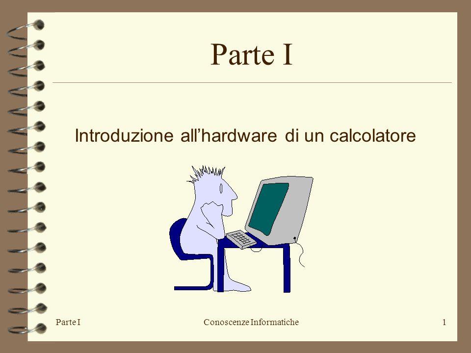 Parte IConoscenze Informatiche1 Introduzione allhardware di un calcolatore Parte I